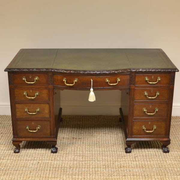 Quality Edwardian Mahogany Antique Desk