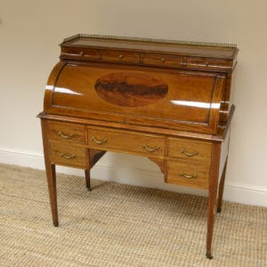High Quality Victorian Mahogany Antique Cylinder Desk