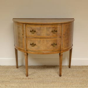 Unusual Demi Lune Shoolbred Antique Side Cabinet