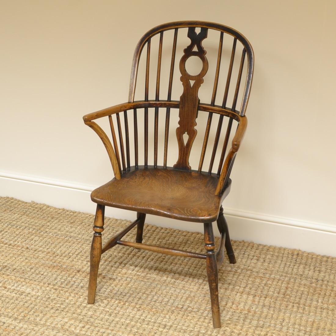 18th century Country House Elm & Ash Antique Windsor Chair
