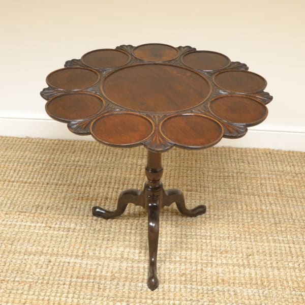 Unusual Georgian Mahogany Antique Supper Table