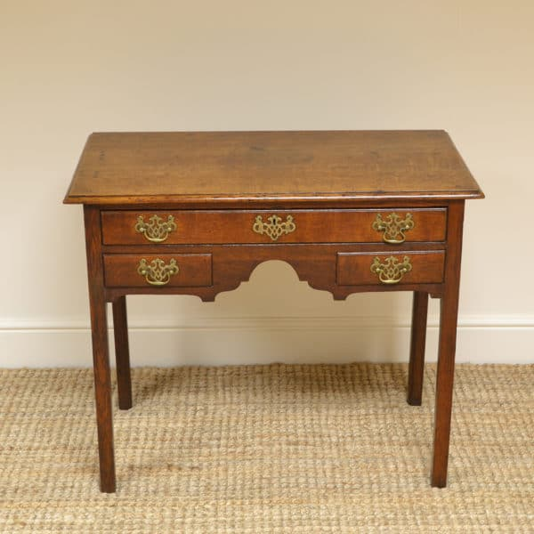 George III Period Oak Antique Low Boy / Side Table