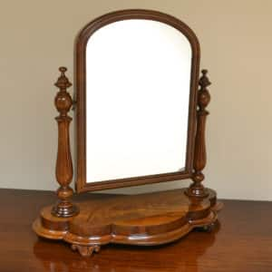 Beautiful figured Mahogany Antique Dressing Table Mirror