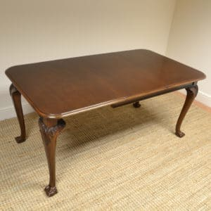 Edwardian Walnut Wind Out Extending Antique Dining Table