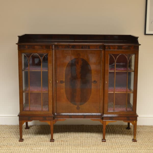Fine Quality Edwardian Inlaid Mahogany Antique Display Cabinet