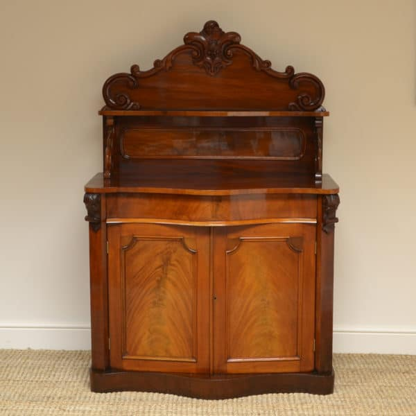 Rich Mahogany Serpentine Victorian Antique Chiffonier