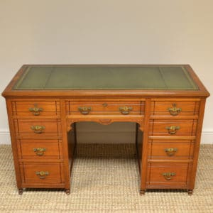 Quality Victorian Walnut Antique Pedestal Desk