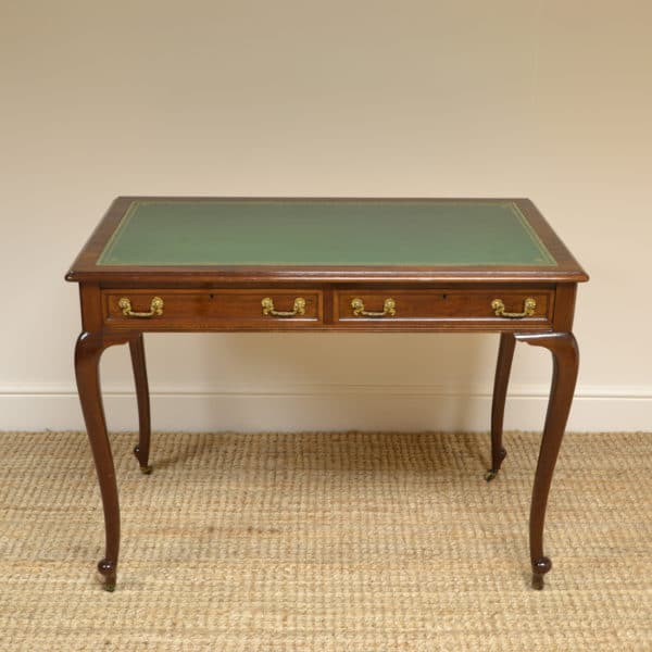 Edwardian Mahogany Maple & Co Antique Writing Table