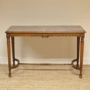 Edwardian Walnut Antique Console Table