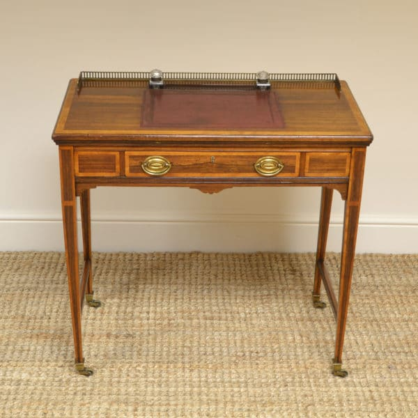 Spectacular Quality Victorian Rosewood Antique Writing Table