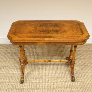 Quality Figured Walnut Victorian Antique Card Table / Games Table