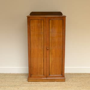 Heals Quality Victorian Walnut Tall Slim Antique Cupboard