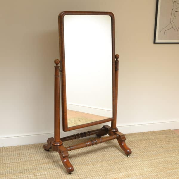 Magnificent Quality Large Victorian Antique Cheval Mirror