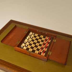 Rare Victorian Mahogany Travelling Chess Set