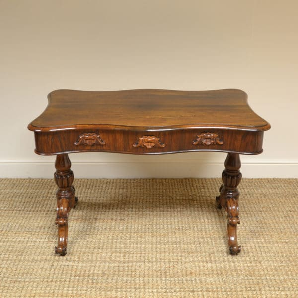 Fine Quality William IV Rosewood Centre Table / Writing Table