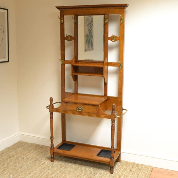 Quality Oak Arts & Crafts Victorian Antique Hall Stand