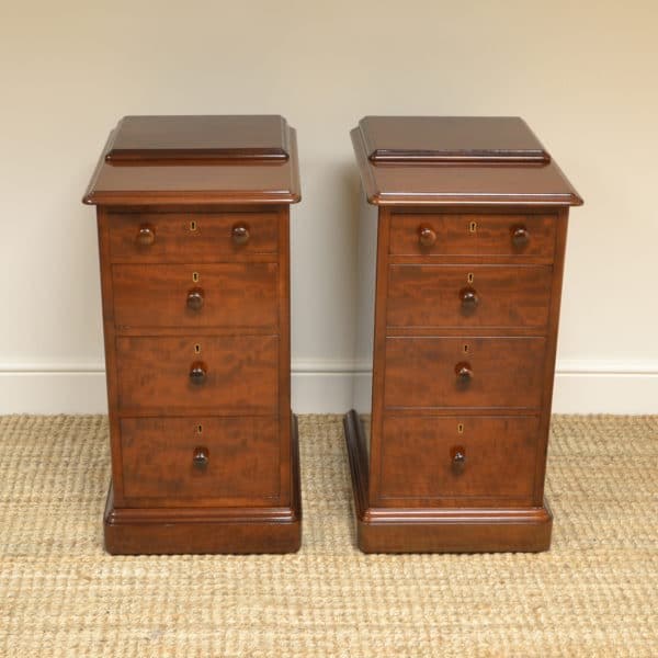 Rare Pair of Gillows of Lancaster Victorian Antique Cabinets