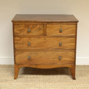 Small Regency Mahogany Antique Chest of Drawers