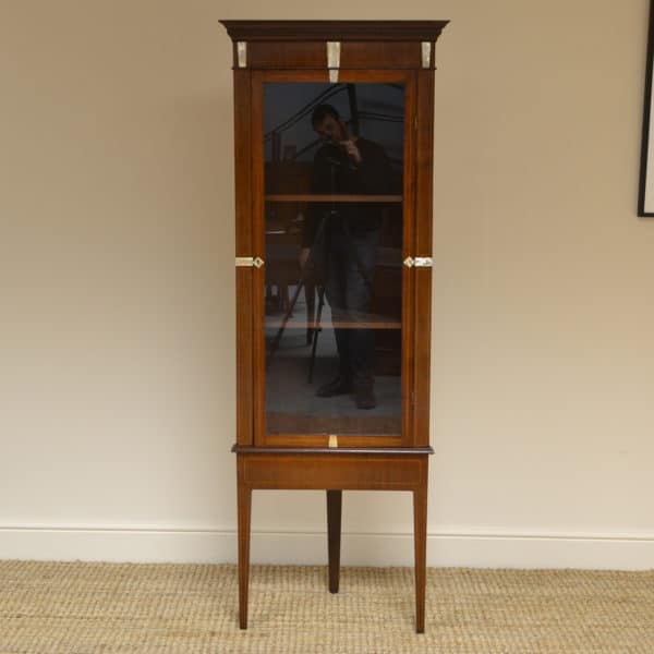 Fine Quality Victorian Inlaid Floor Standing Antique Corner Cabinet