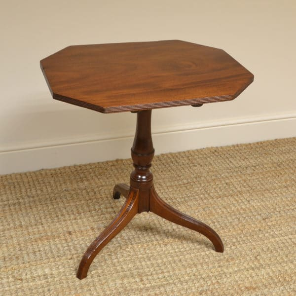 Regency Mahogany Antique Tripod Occasional Wine / Lamp Table