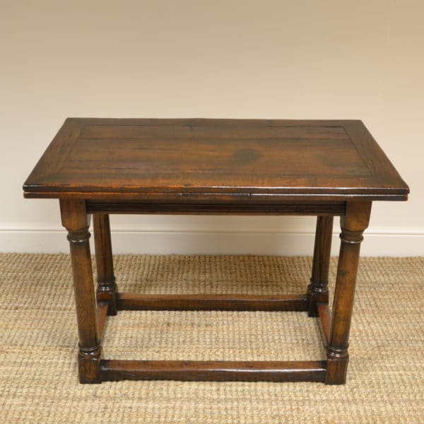 Unusual 17th Century Small Extending Antique Refectory Table