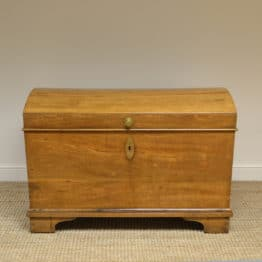 Huge Oak Antique Dome Top Period Chest / Coffer