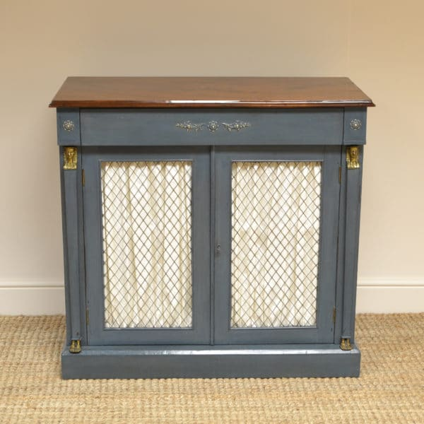 Victorian Neoclassical Antique Painted Cupboard