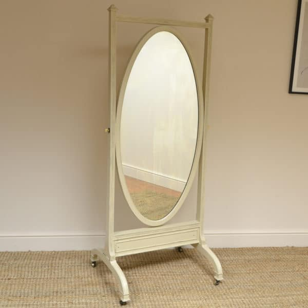 Victorian Painted Antique Cheval Mirror