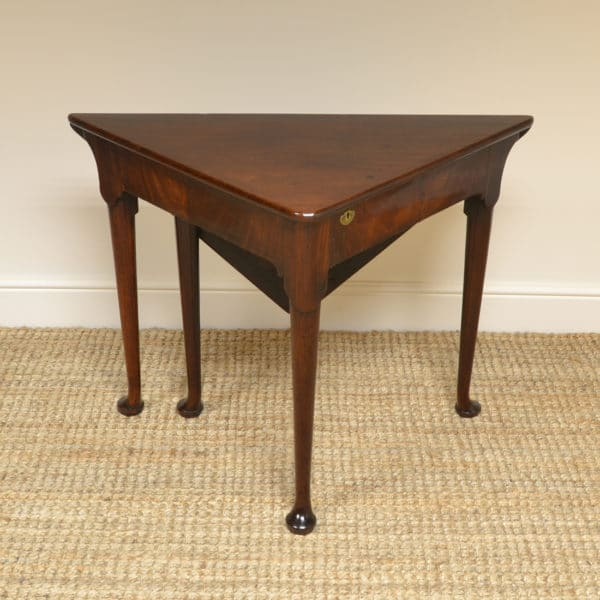 Rare George III Mahogany Antique Corner Lamp Table