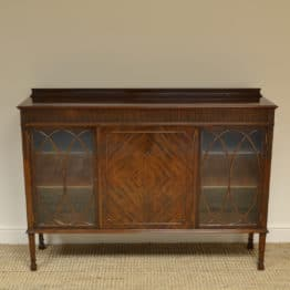 High Quality Edwardian Figured Mahogany Antique Display Cabinet / Bookcase