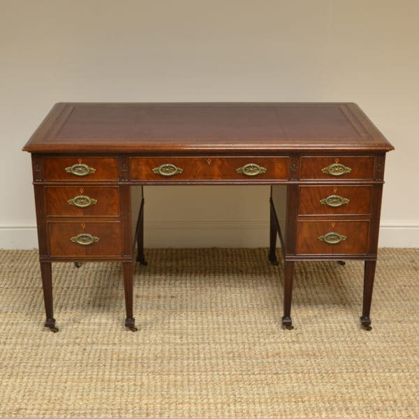 Quality Waring & Gillow Antique Edwardian Mahogany Desk