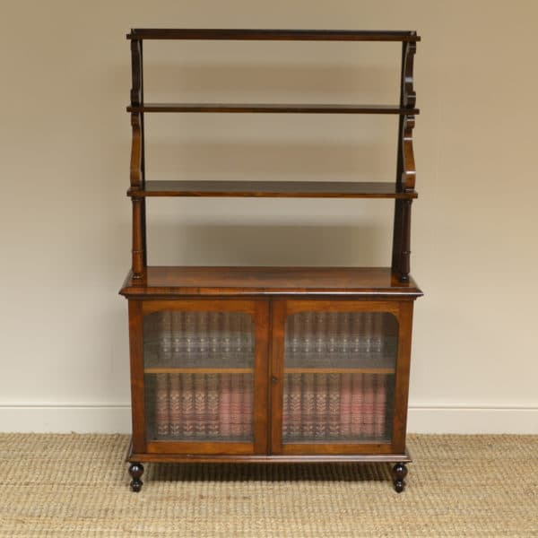 Elegant Regency Rosewood Antique Display Bookcase
