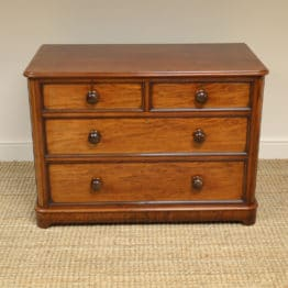 Small Victorian Mahogany Heals Design Antique Chest of Drawers