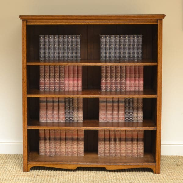 Spectacular 'Burr' Pollard Oak Victorian Large Antique Open Bookcase