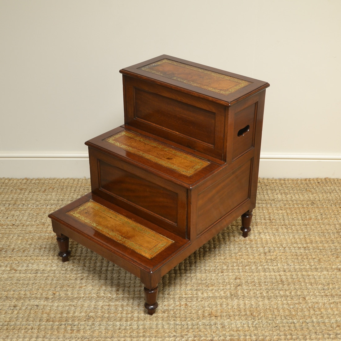 High Quality Regency Mahogany Antique Library Steps – Lodge & Co