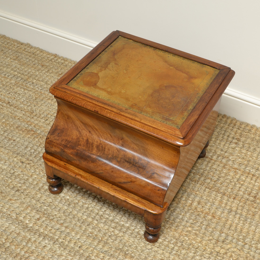 Regency Warm Mahogany Country House Antique Bed Steps Commode