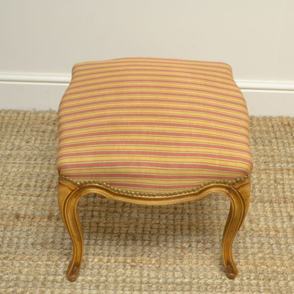 Stunning Edwardian Satin Walnut Antique Stool