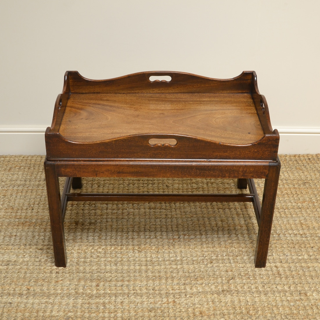 Phenomenal Georgian Mahogany Tray Top Antique Coffee Table Antiques World Gamerscity Chair Design For Home Gamerscityorg