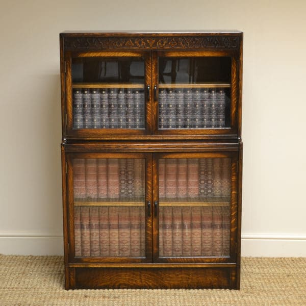 Small 'Gunn' Oak Antique Stacking Bookcase