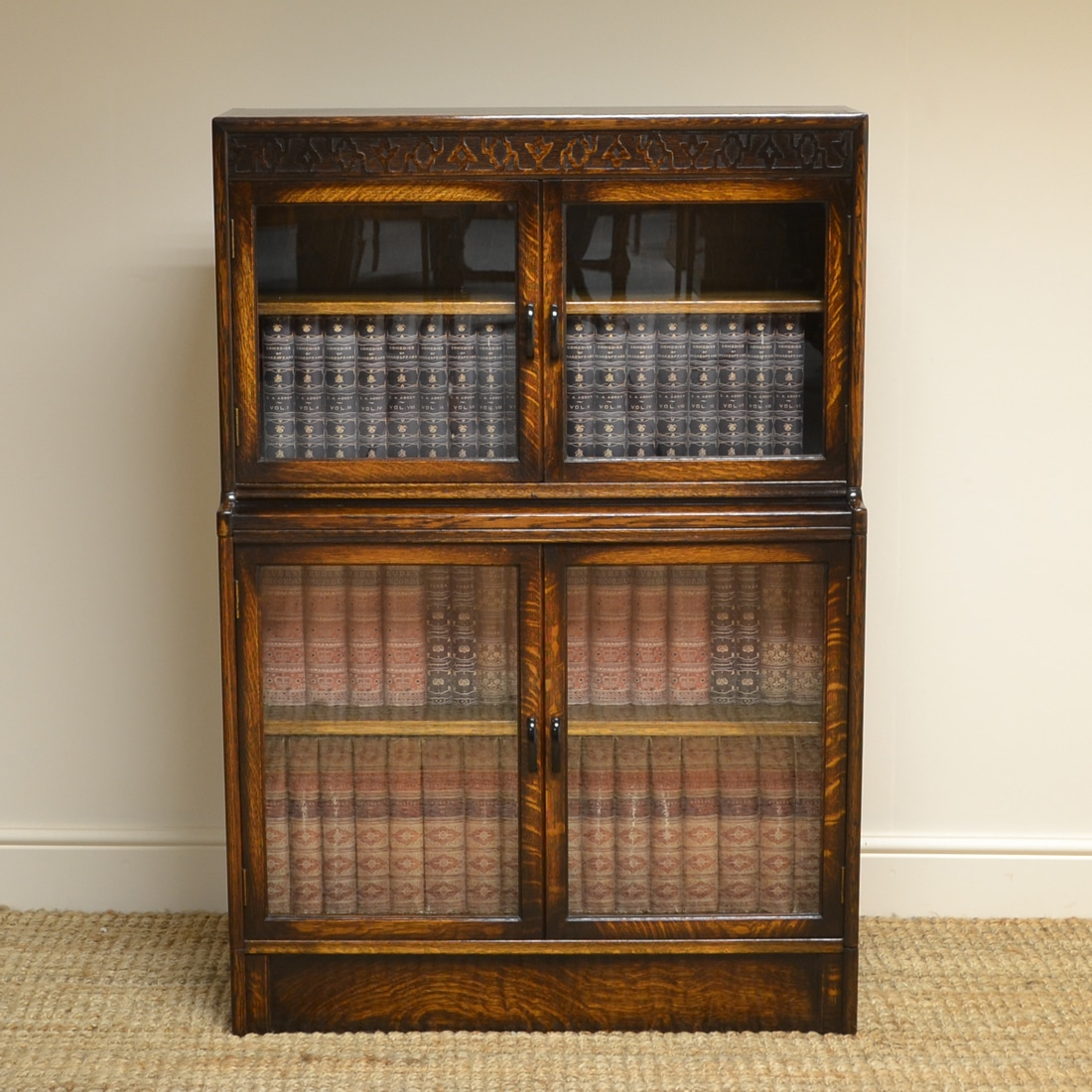 Small Gunn Oak Antique Stacking Bookcase Antiques World