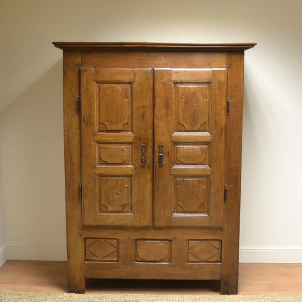 17th Century Country House Period Oak French Antique Armoire