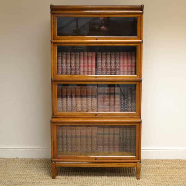 Edwardian Mahogany Globe Wernicke Antique Stacking Bookcase