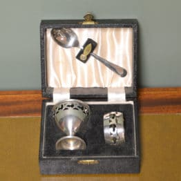 Boxed Napkin Ring, Egg Cup and Spoon
