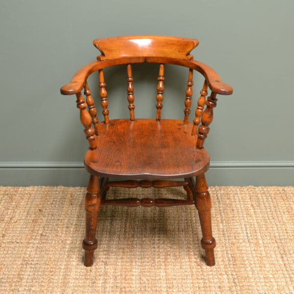 Victorian Country House Smokers Bow Antique Carver Chair