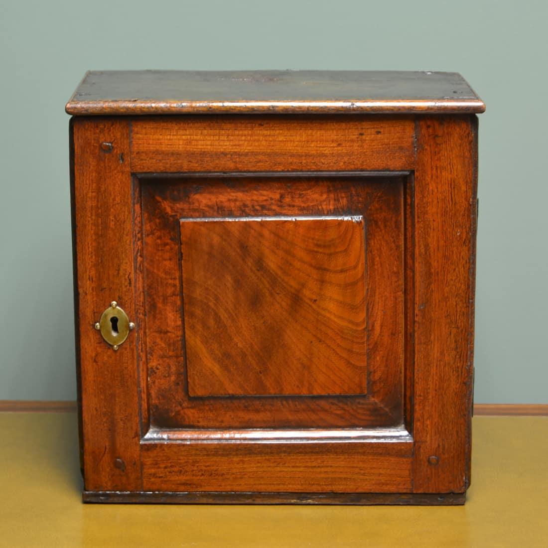 Rare 17th Century Oak Antique Spice Cupboard