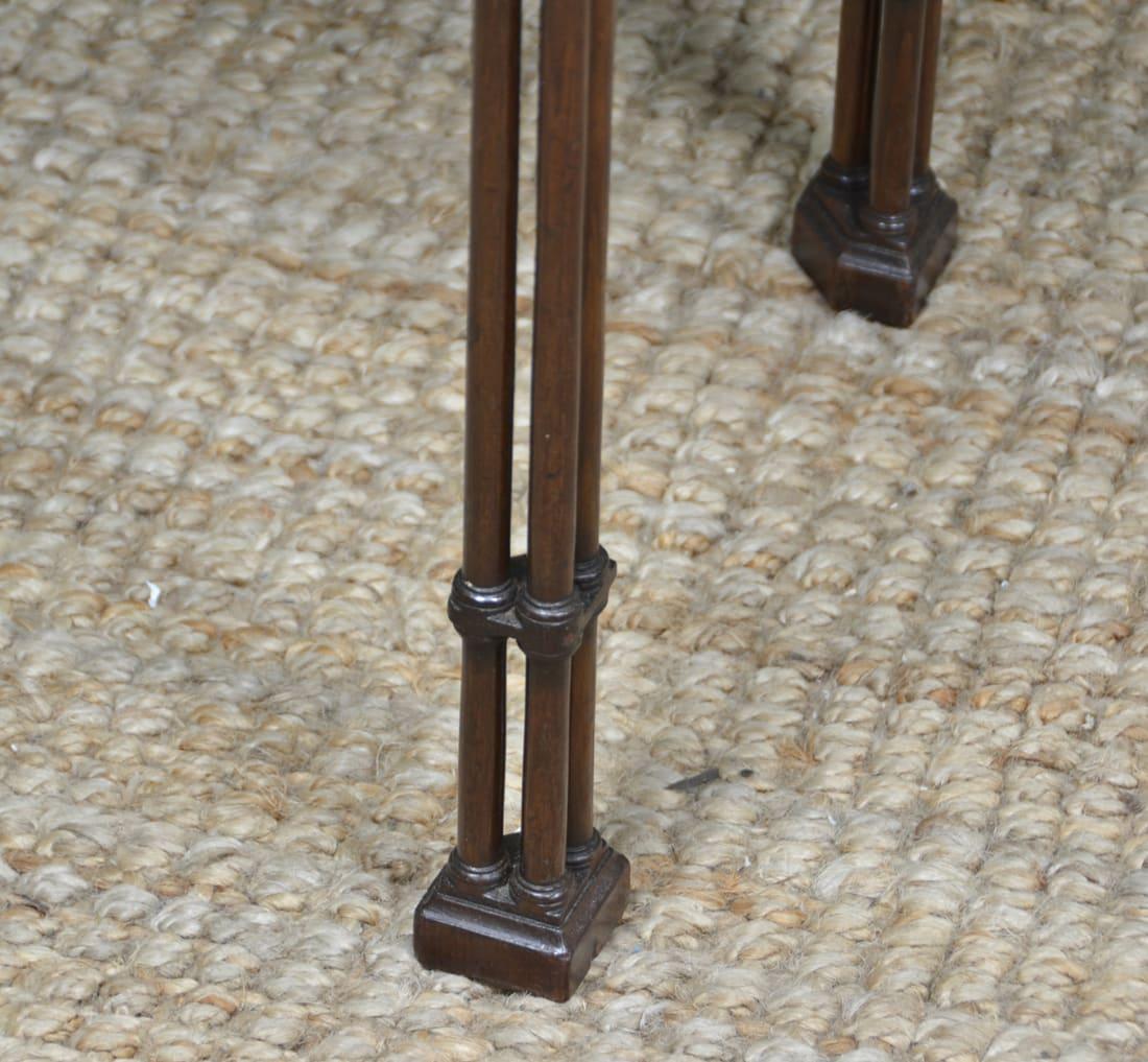 Chinese Chippendale Triple Pillar Leg