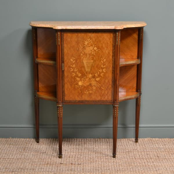 Spectacular Kingwood Victorian Inlaid Antique Side Cabinet