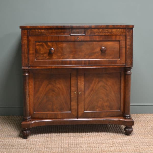 Quality Victorian Mahogany Antique Secretaire Chest