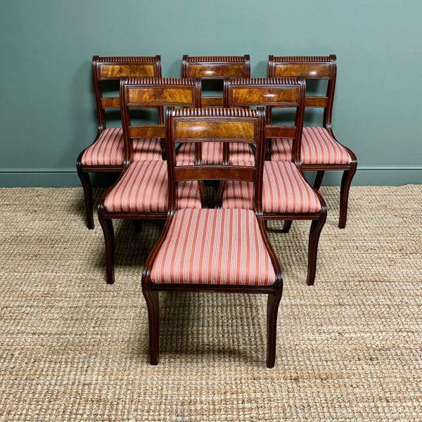 Set of Six Antique Regency Mahogany Dining Chairs of Superb Quality.