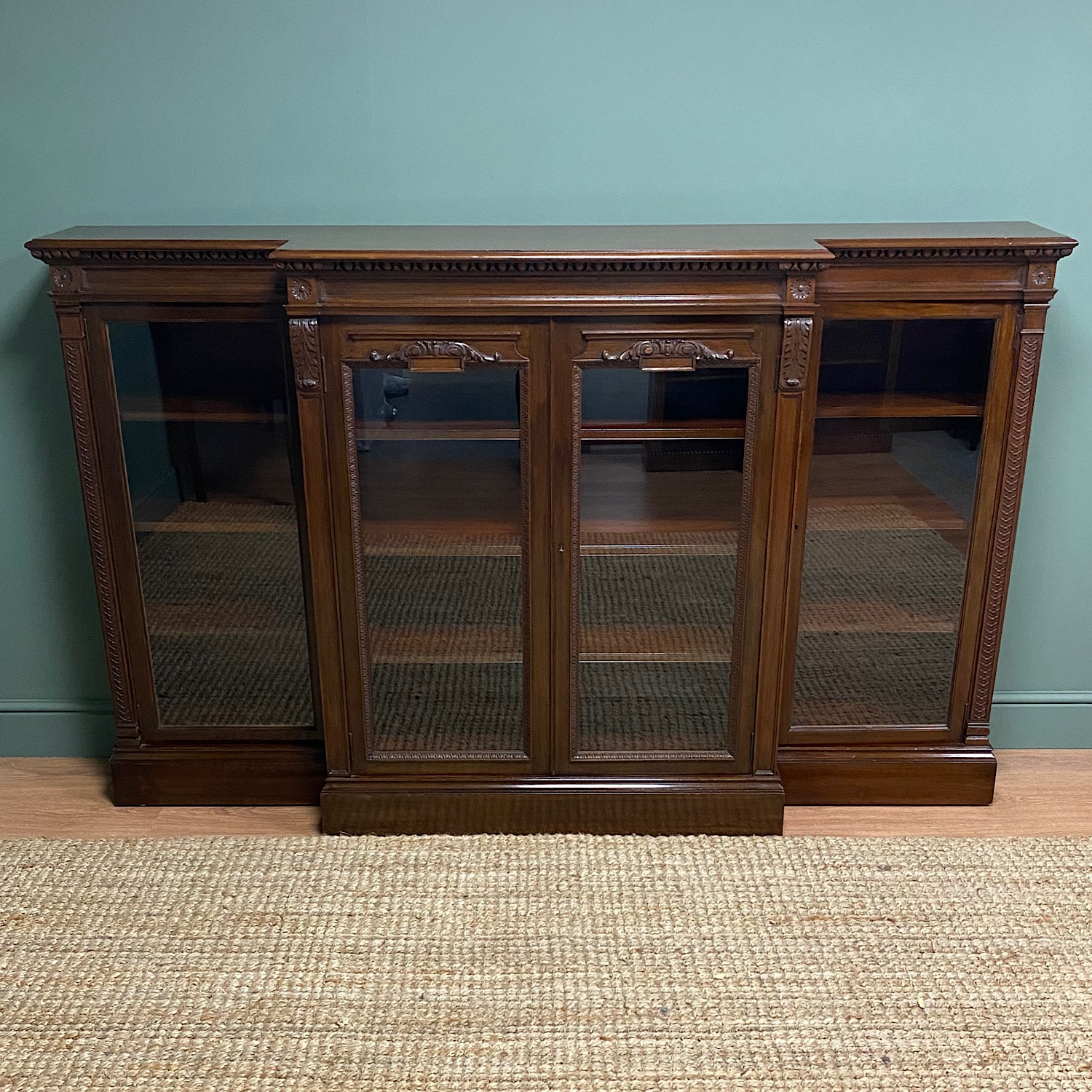 Hamptons of London Victorian Walnut Antique Bookcase